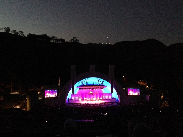 Encerrando o dia assistindo a um concert no Hollywood Bowl