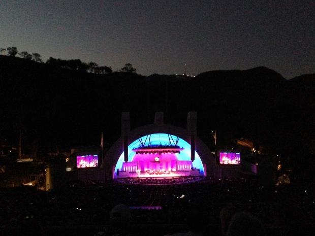 Encerrando o dia assistindo a um concert no Hollywood Bowl