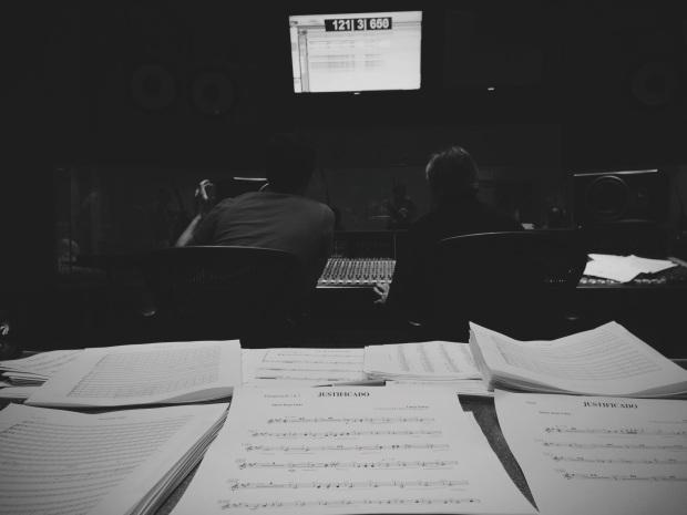Começando as gravações de orquestra no Citrus College em Glendora, CA
